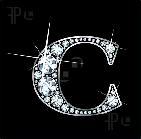 M Alphabet In Diamond Tu connais la fille h !? Non ?!!!! Regarde son site . Comme c'est ...